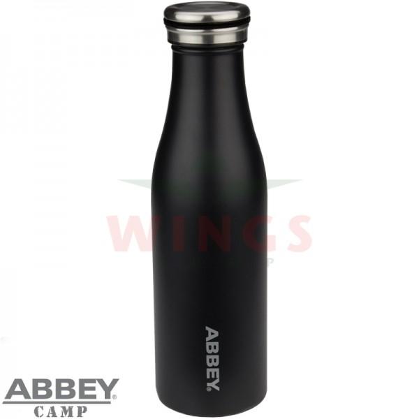 Drinkfles thermo zwart rvs 0,45 ltr.