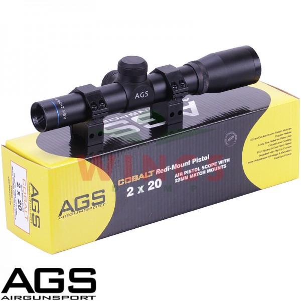 AGS pistool telescoopvizier 2x20