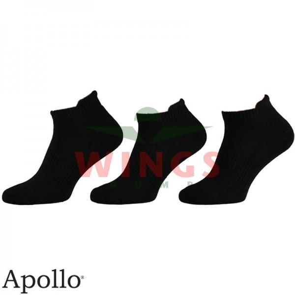 Sneaker sok Apollo zwart per 3 paar