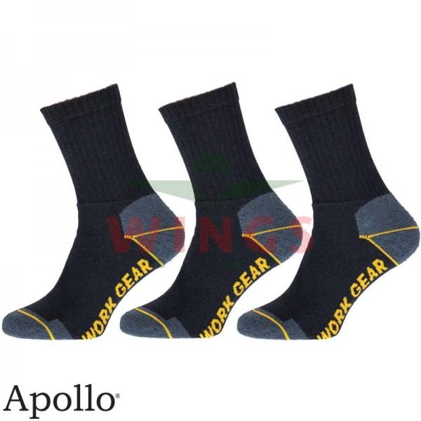 Werksok Apollo blauw 3 paar