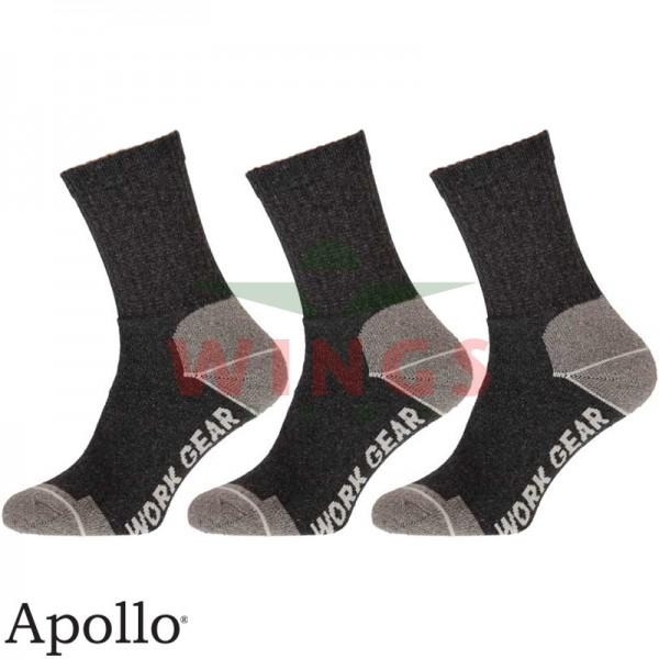 Werksok Apollo grijs 3 paar