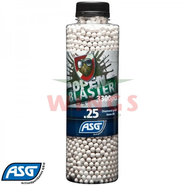 ASG open blaster bio bb's 0,25 gram 3300 stuks.