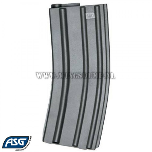 ASG M4/M16 mid-cap magazijn 140 rounds