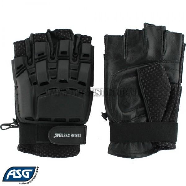 Handschoen ASG tactical halffinger zwart