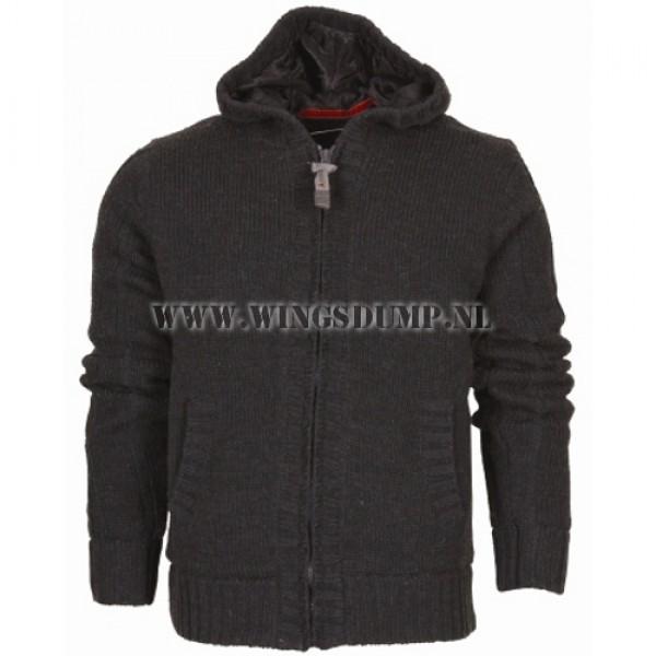 Borusco knitted vest grey
