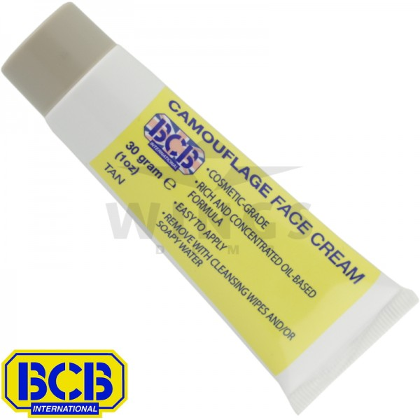 BCB camouflage face cream tube tan
