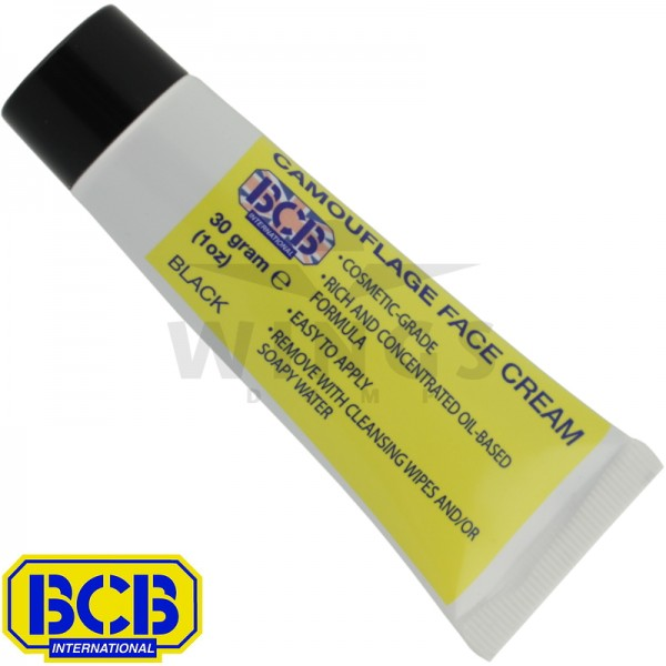 BCB camouflage face cream tube zwart
