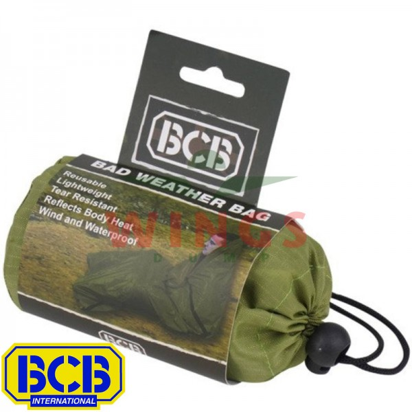 BCB survival bad weather bag groen