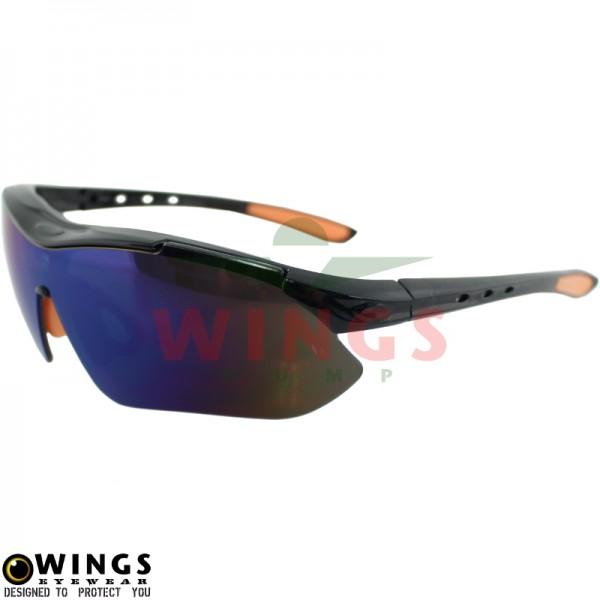 Zonnebril Sports black / orange / oiled