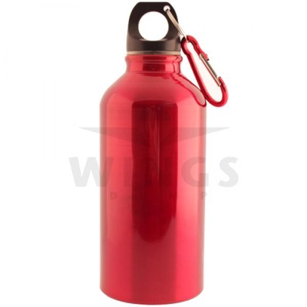 Drinkfles alu 400 ml. rood