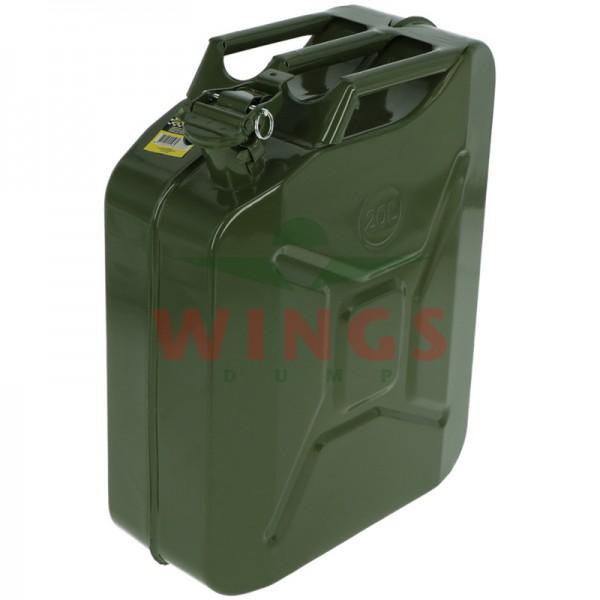 Jerrycan staal groen 20 liter