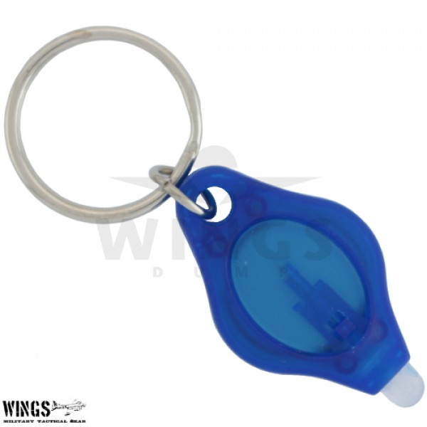 Sleutelhanger led zaklamp mini blauw