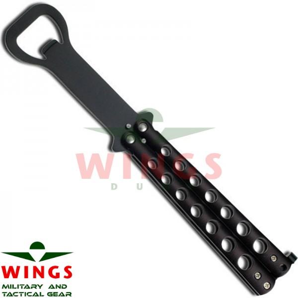 Vlinder trainer 212 mm met opener zwart