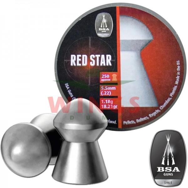 BSA Red Star domed pellets 5,5 m.m. 250 stuks