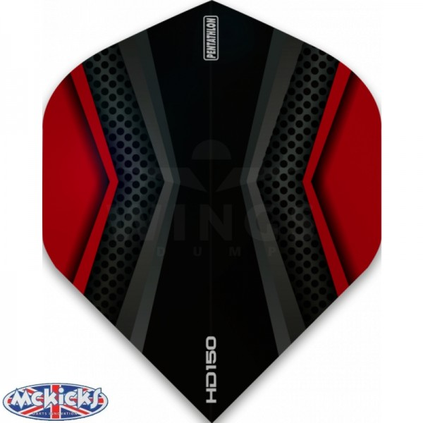 Flights pentathlon HD150 black-red