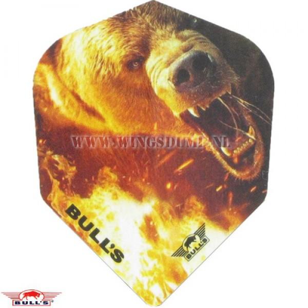 Flights power angry bear brown