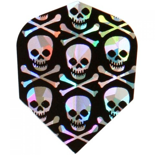Flights metallic skulls zwart zilver