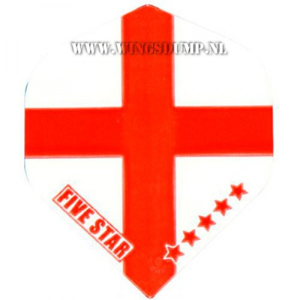 Flights five star england wit rood