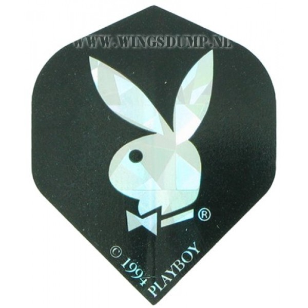Flights playboy bunny zwart zilver