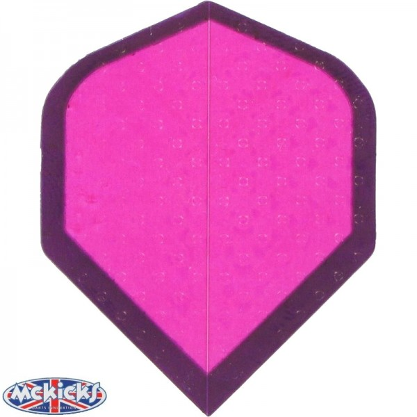 Flights Dimplex pink with black border