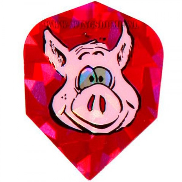 Flights metallic varkenskop roze