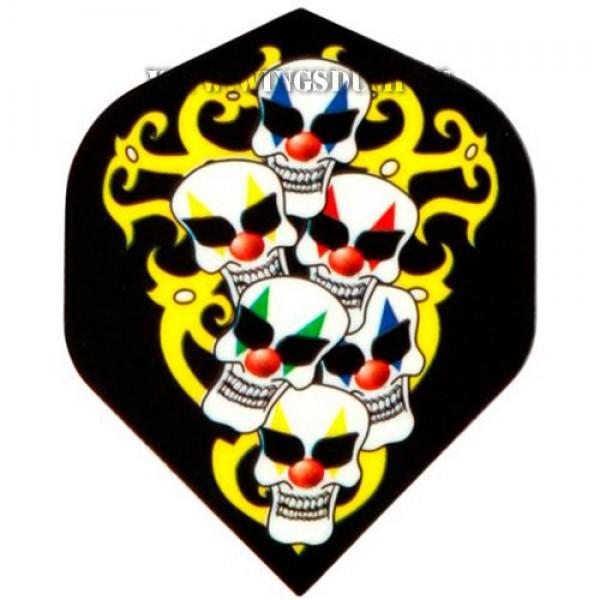 Flights motex 6 skulls zwart geel