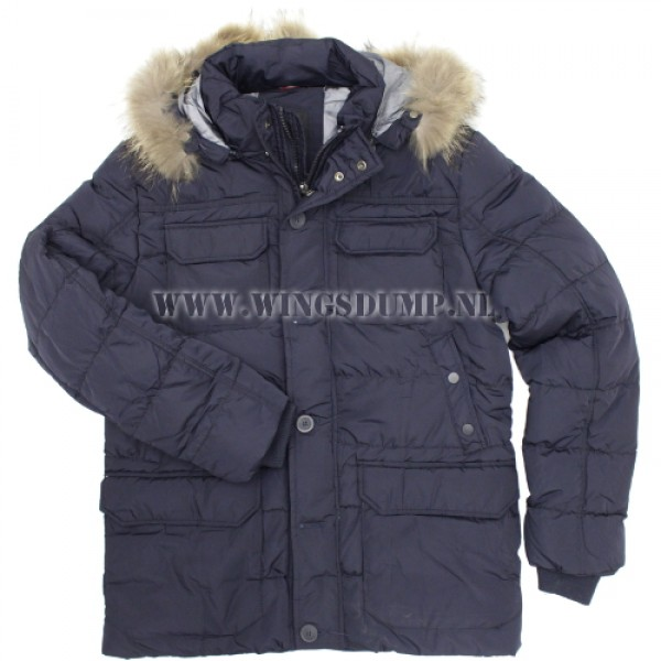 Chromosome parka nylon blauw