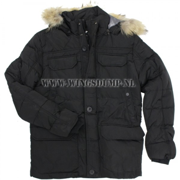 Chromosome parka nylon zwart