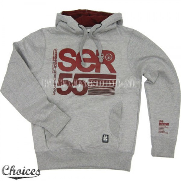 Hooded sweater SER55 grey