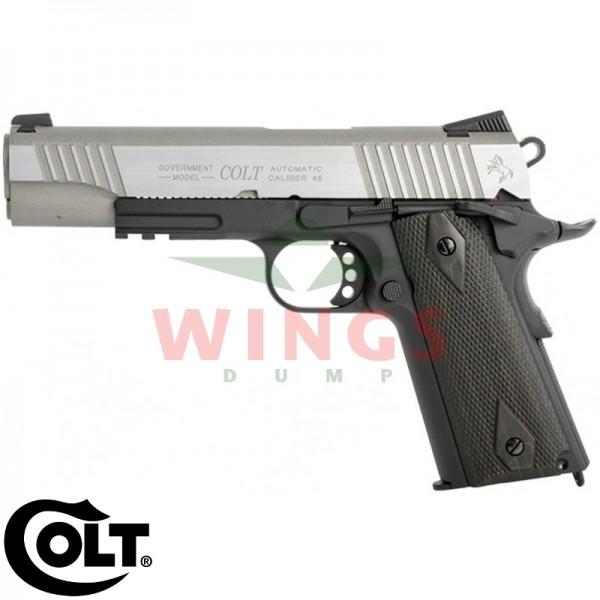 Colt model 1911 railgun dualtone silver