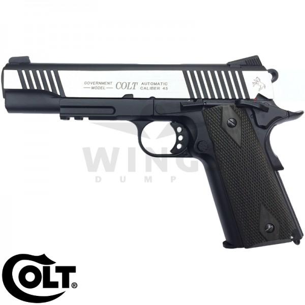 Colt model 1911 zwart/rvs dualtone