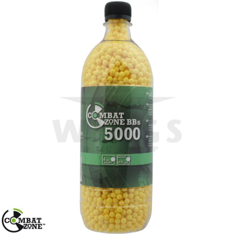 Combat Zone airsoft bb's 0,12 gram 5.000 stuks geel