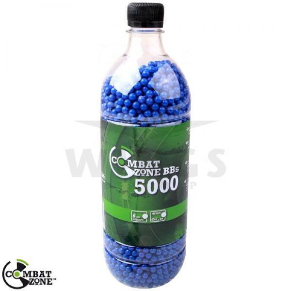 Combat Zone airsoft bb's 0,12 gram 5.000 stuks blauw