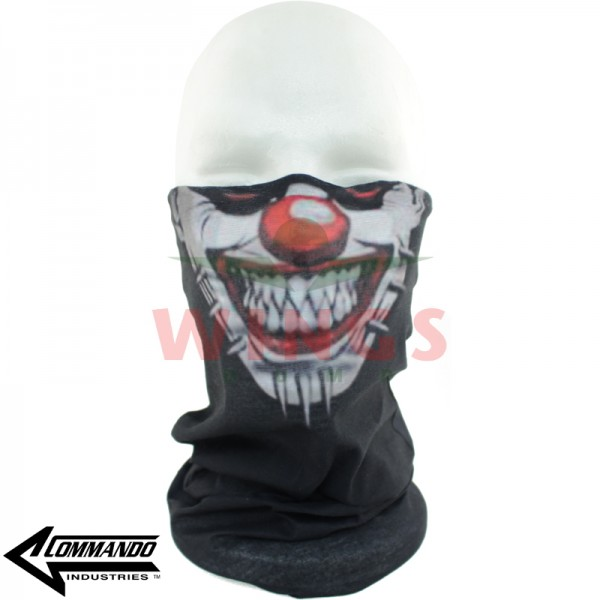 Commando military Buff zwart pinhead clown