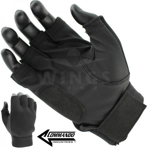 Commando Sniper handschoen halffinger zwart