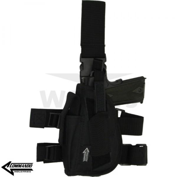 Beenholster Commando zwart cordura linkshandig