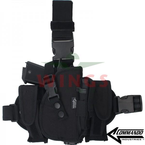 Beenholster Commando combi zwart