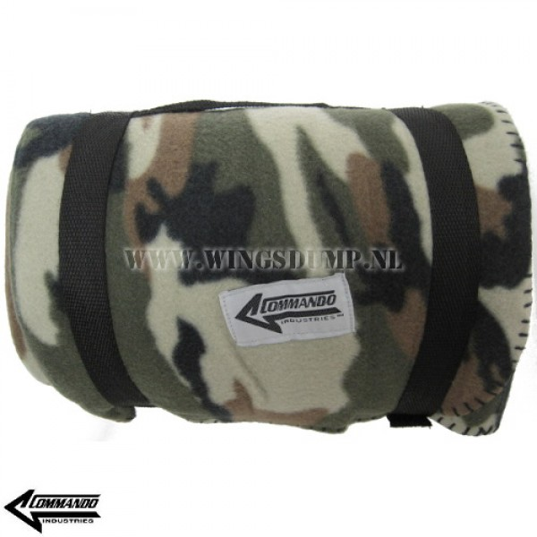Commando fleece deken camo
