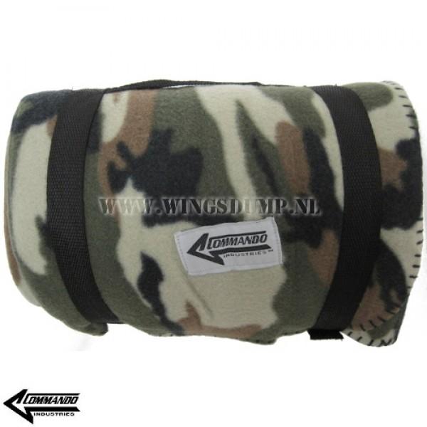 Commando fleece deken camo