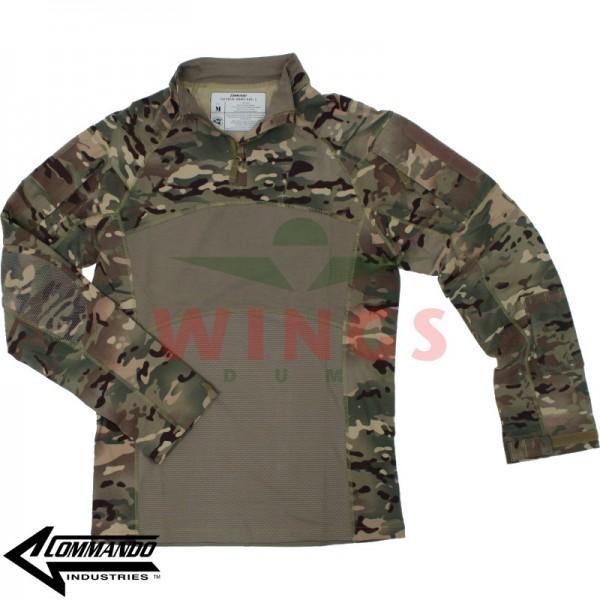 Commando tactical operator shirt multi camo