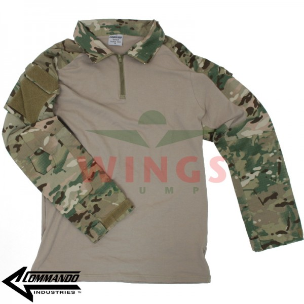 Commando tactical operator shirt multi camo