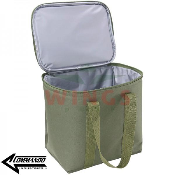 Commando koeltas groen 31x22x26 cm.