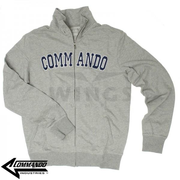 Commando zip sweatvest grijs