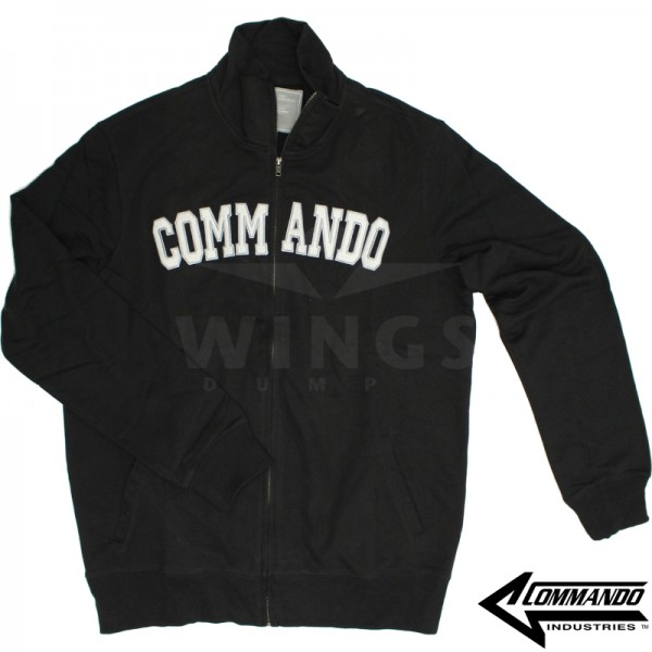 Commando zip sweatvest zwart