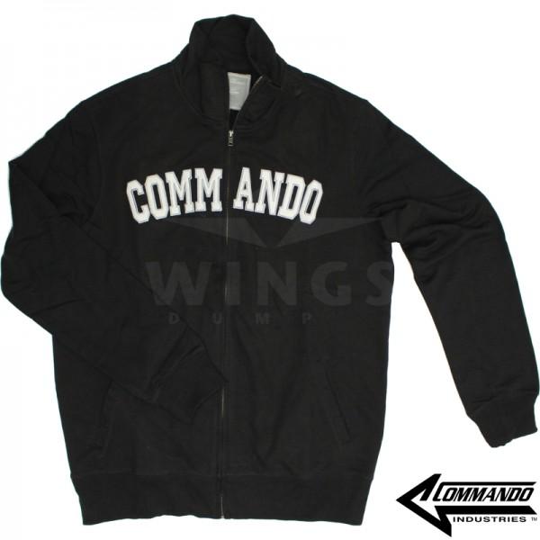 Commando zip sweatvest zwart