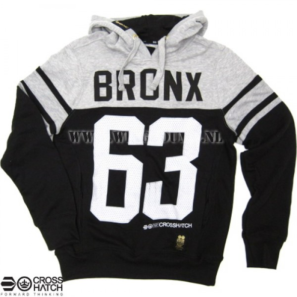 Hooded sweater Crosshatch Bronx 63 zwart