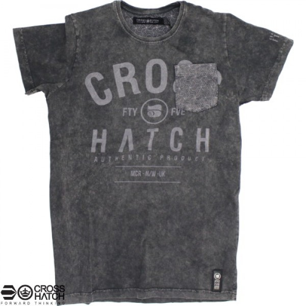 T-Shirt Crosshatch Blacklit fade grey