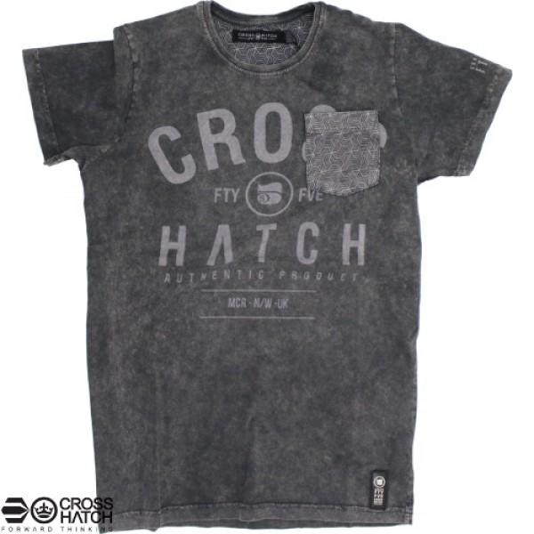T-Shirt Crosshatch Blacklit fade grey