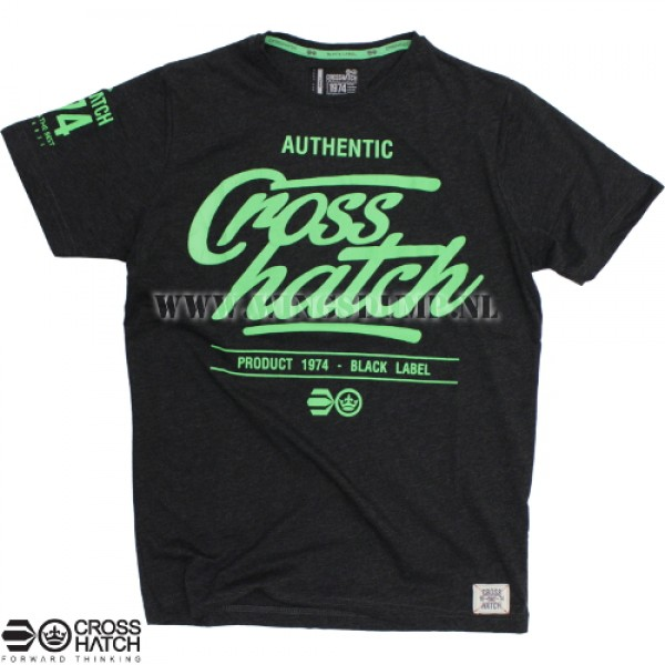 T-Shirt Crosshatch logo black/green