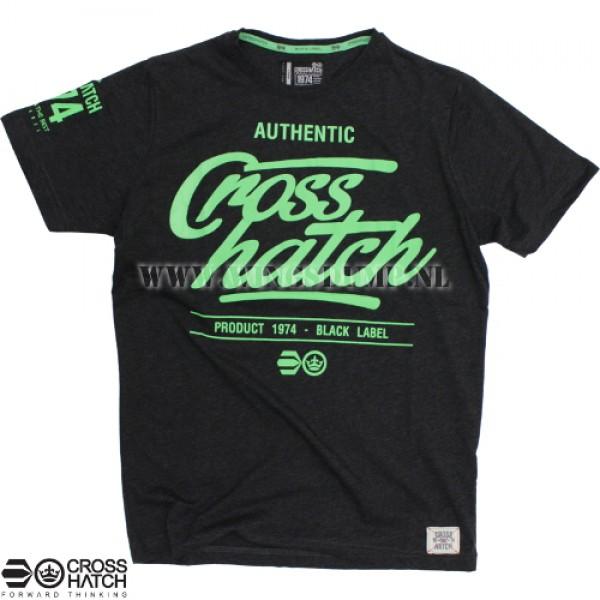 T-Shirt Crosshatch logo black/green